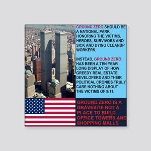 "World-Trade-Center-Twin-Tow Square Sticker 3"" x 3"""