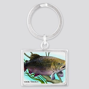 Brook Trout Landscape Keychain