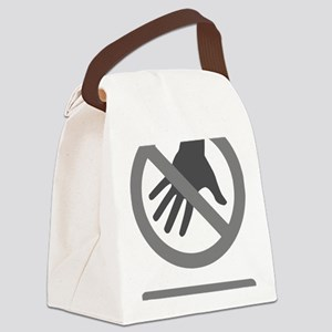 Do Not Touch (Grey) Canvas Lunch Bag
