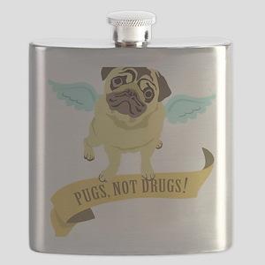 pugs-not-drugs-wings Flask
