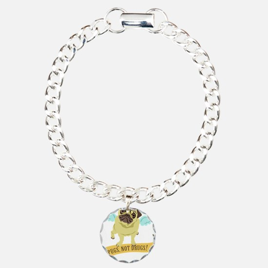 pugs-not-drugs-wings Bracelet
