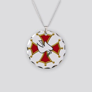 Cathars dove Necklace Circle Charm