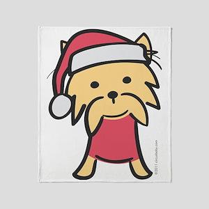 yorkie_santa Throw Blanket