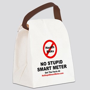 NoStupidSmartMeter-3DONE Canvas Lunch Bag