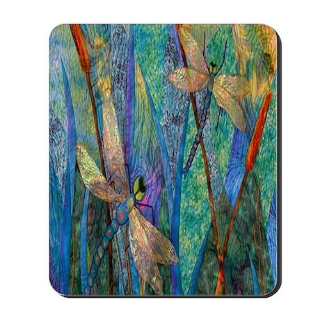 Colorful Dragonflies Mousepad