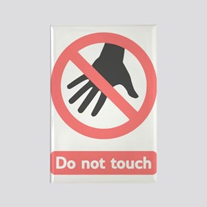 Do Not Touch (pink) Rectangle Magnet