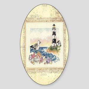 Lighthouse Serenity Sticker (Oval)