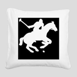 polowhiteprint Square Canvas Pillow