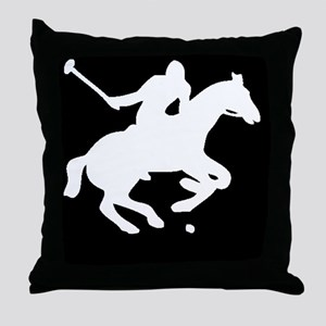 polowhiteprint Throw Pillow