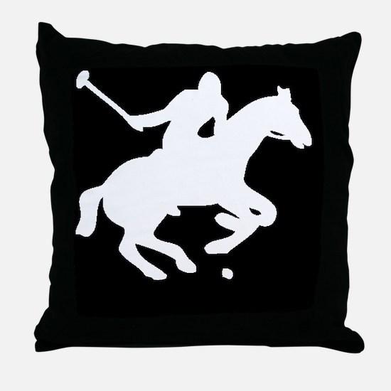 polowhiteprint Throw Pillow