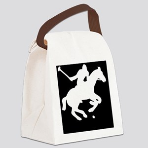 polowhiteprint Canvas Lunch Bag