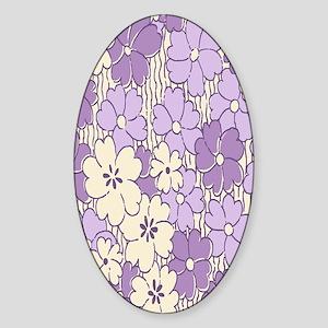 purple flower nook Sticker (Oval)