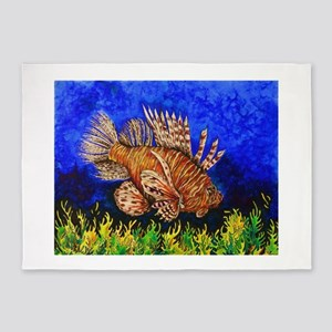 Lion Fish 5'x7'Area Rug