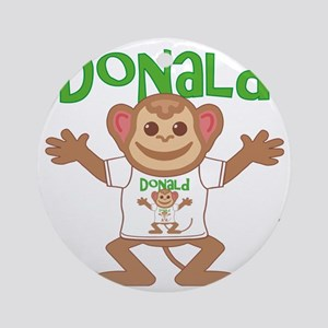 donald-b-monkey Round Ornament