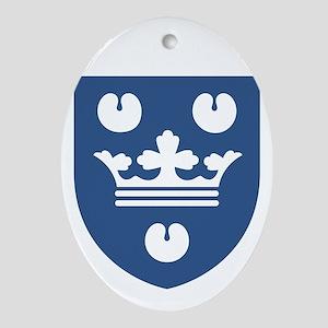 Kobenhavn COA (white) Oval Ornament