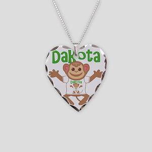 dakota-b-monkey Necklace Heart Charm