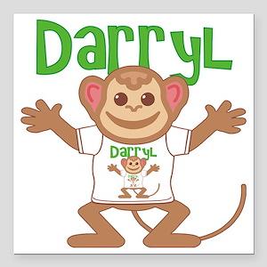 "darryl-b-monkey Square Car Magnet 3"" x 3"""