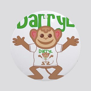 darryl-b-monkey Round Ornament
