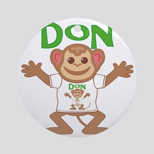 don-b-monkey Round Ornament