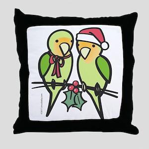 lovebirds_santa Throw Pillow