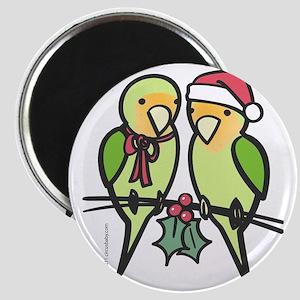 lovebirds_santa Magnet