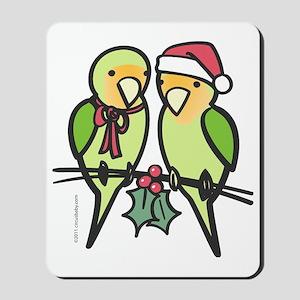 lovebirds_santa Mousepad