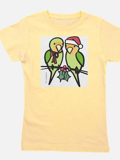 lovebirds_santa Girl's Tee