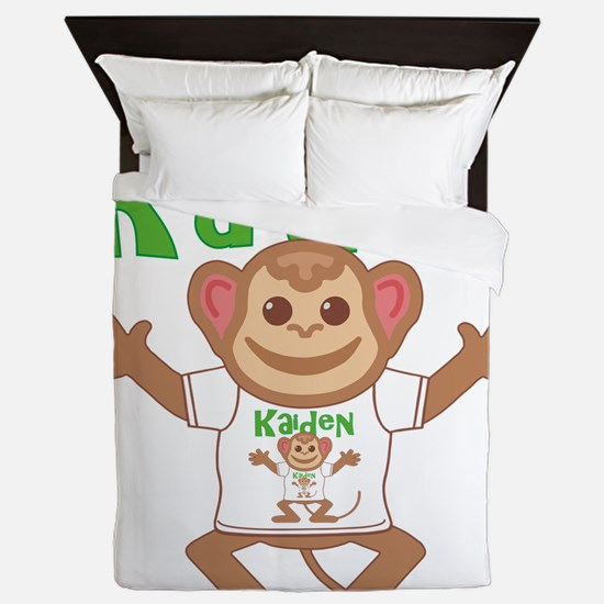 kaiden-b-monkey Queen Duvet