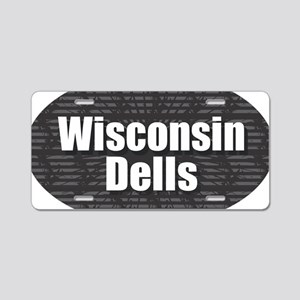 Wisconsin Dells Aluminum License Plate