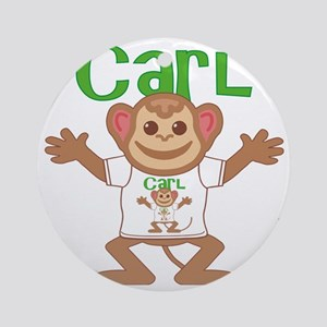 carl-b-monkey Round Ornament