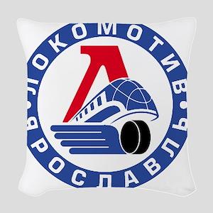 Lokomotive round Woven Throw Pillow
