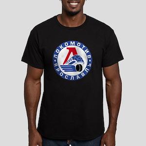 Lokomotive round Men's Fitted T-Shirt (dark)