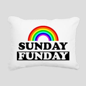 sundayfundayrainbow Rectangular Canvas Pillow