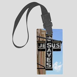 6774 Jesus Sign Large Luggage Tag