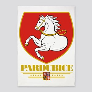 Pardubice COA (Flag 10) 5'x7'Area Rug