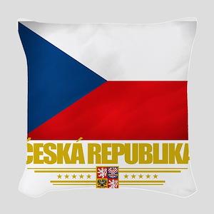 Czech Republic (Flag 10) Woven Throw Pillow