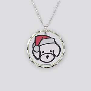 bichon_orn Necklace Circle Charm