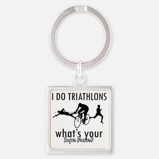 triathlons Square Keychain
