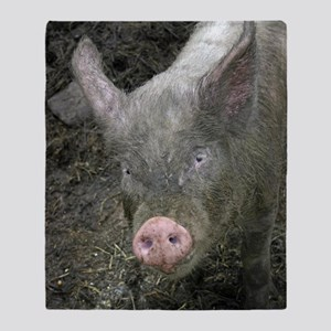 6653 Pig 2 Throw Blanket