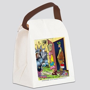 6708_accident_cartoon Canvas Lunch Bag