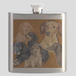 dachshunds_mural3 Flask