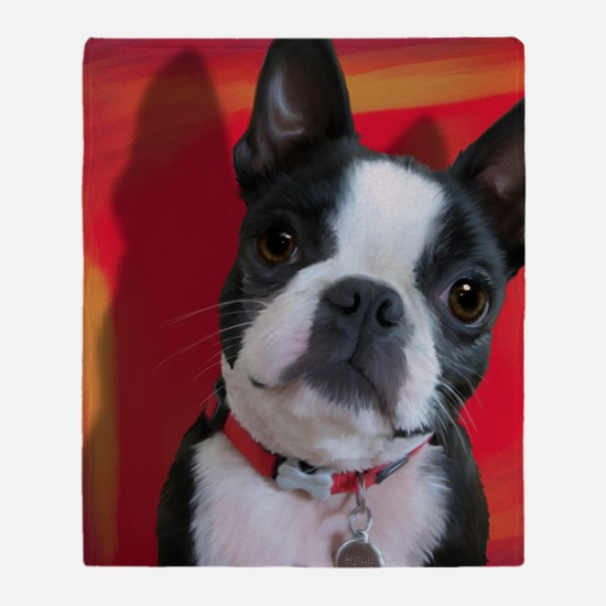 Ruthie the Boston Terrier Throw Blanket