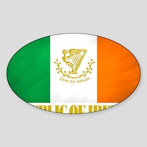 Republic of Ireland Flag (erin) Sticker (Oval)