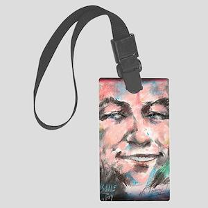 Portrait-Insane Joy-No Logo Large Luggage Tag