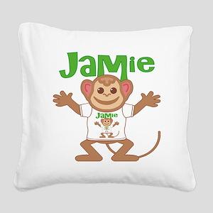 jamie-b-monkey Square Canvas Pillow