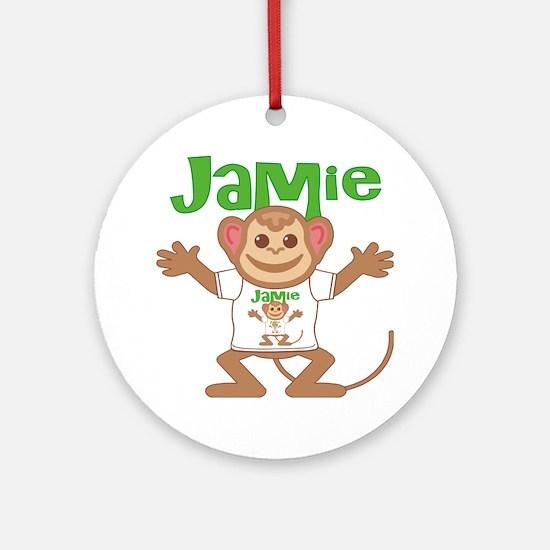 jamie-b-monkey Round Ornament