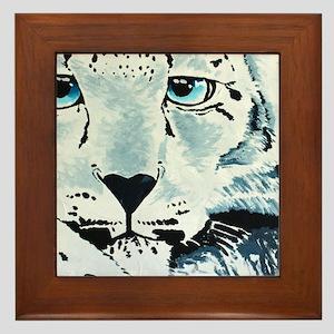 Snow Leopard-2011-18x36-Acrylic on Can Framed Tile