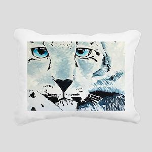 Snow Leopard-2011-18x36- Rectangular Canvas Pillow