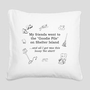 Goodie Pile-final Square Canvas Pillow