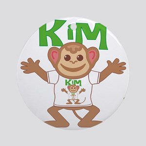 kim-b-monkey Round Ornament